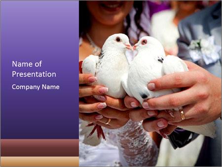 Wedding pigeons PowerPoint Templates