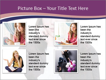 Young beautiful school girl PowerPoint Template - Slide 14