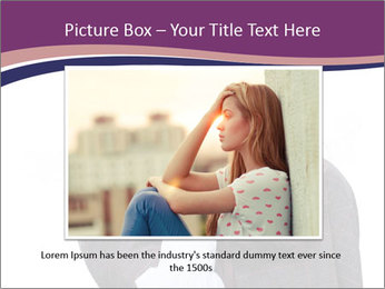 Young beautiful school girl PowerPoint Template - Slide 15