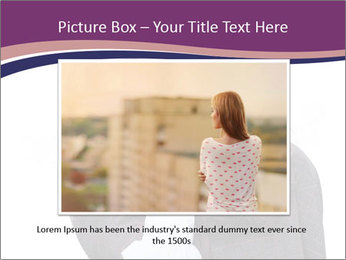 Young beautiful school girl PowerPoint Template - Slide 16