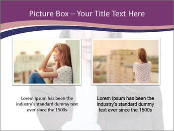 Young beautiful school girl PowerPoint Template - Slide 18