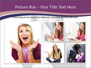 Young beautiful school girl PowerPoint Template - Slide 19