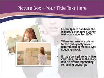 Young beautiful school girl PowerPoint Template - Slide 20