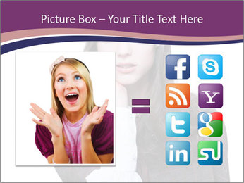 Young beautiful school girl PowerPoint Template - Slide 21