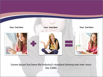 Young beautiful school girl PowerPoint Template - Slide 22