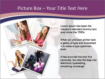 Young beautiful school girl PowerPoint Template - Slide 23