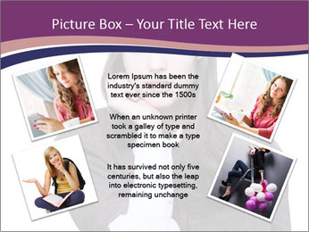 Young beautiful school girl PowerPoint Template - Slide 24