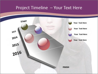 Young beautiful school girl PowerPoint Template - Slide 26
