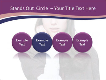 Young beautiful school girl PowerPoint Template - Slide 76