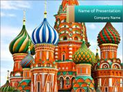 Red Square in Moscow PowerPoint Template