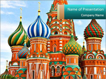 Red Square in Moscow PowerPoint Template - Slide 1