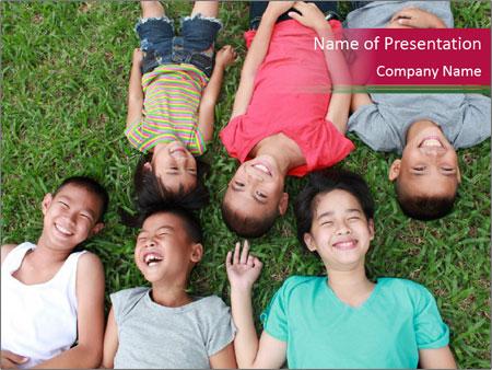 Six kids PowerPoint Templates