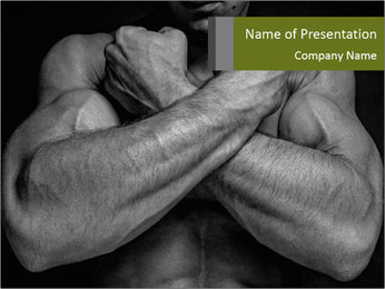 Muscled male PowerPoint Template - Slide 1