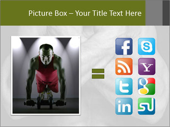 Muscled male PowerPoint Template - Slide 21