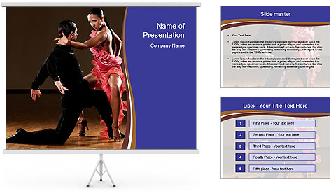 Latino dance couple PowerPoint Template