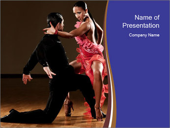 Latino dance couple PowerPoint Templates - Slide 1