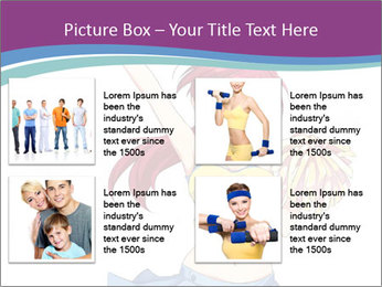 Cute happy cheerleader PowerPoint Templates - Slide 14