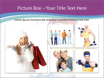 Cute happy cheerleader PowerPoint Templates - Slide 19