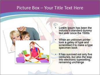 Cute happy cheerleader PowerPoint Templates - Slide 20