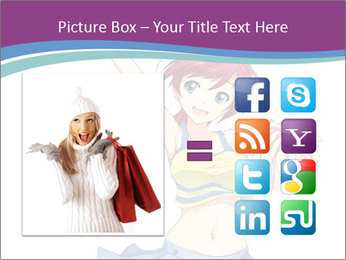 Cute happy cheerleader PowerPoint Templates - Slide 21