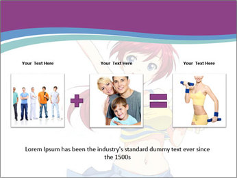 Cute happy cheerleader PowerPoint Templates - Slide 22