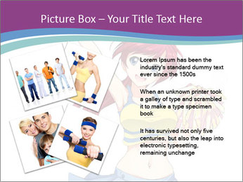 Cute happy cheerleader PowerPoint Templates - Slide 23