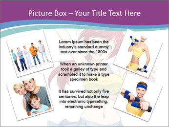 Cute happy cheerleader PowerPoint Templates - Slide 24