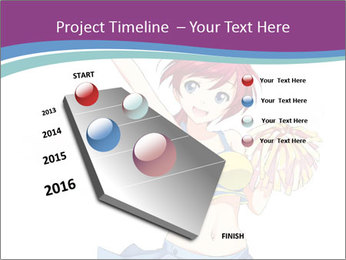 Cute happy cheerleader PowerPoint Templates - Slide 26