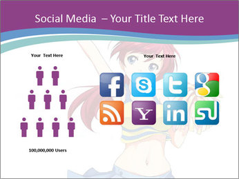 Cute happy cheerleader PowerPoint Templates - Slide 5