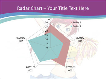 Cute happy cheerleader PowerPoint Templates - Slide 51
