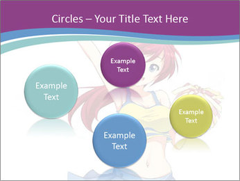 Cute happy cheerleader PowerPoint Templates - Slide 77