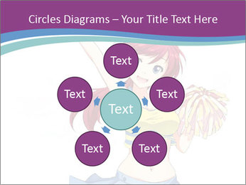 Cute happy cheerleader PowerPoint Templates - Slide 78