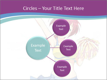Cute happy cheerleader PowerPoint Templates - Slide 79