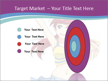 Cute happy cheerleader PowerPoint Templates - Slide 84