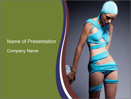 Beautiful fashion woman PowerPoint Template