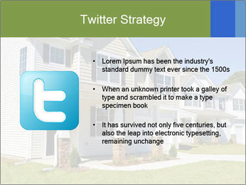 Street of residential houses PowerPoint Templates - Slide 9