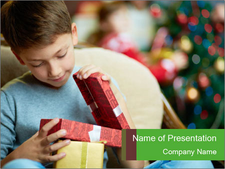 Adorable boy PowerPoint Template