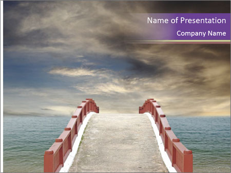An exotic masonry bridge PowerPoint Template
