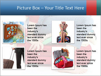 Suitcase crammed PowerPoint Template - Slide 14