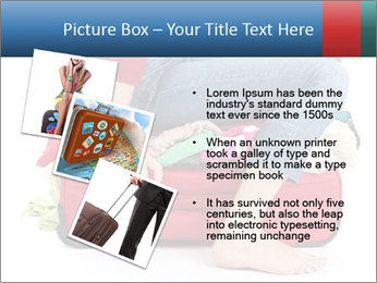 Suitcase crammed PowerPoint Template - Slide 17
