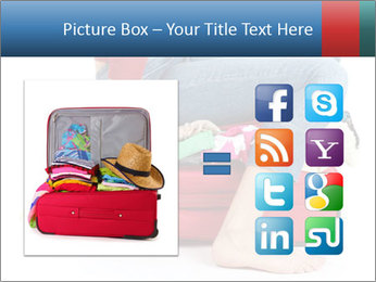 Suitcase crammed PowerPoint Template - Slide 21