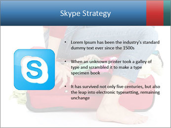 Suitcase crammed PowerPoint Template - Slide 8