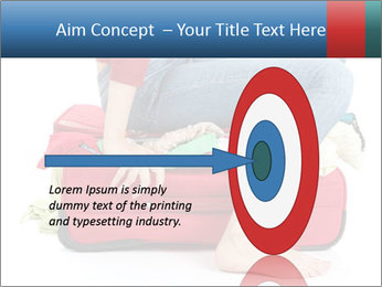 Suitcase crammed PowerPoint Template - Slide 83