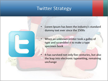 Suitcase crammed PowerPoint Template - Slide 9