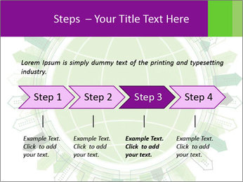 Abstract green city PowerPoint Template - Slide 4