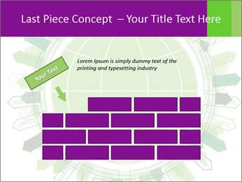 Abstract green city PowerPoint Template - Slide 46
