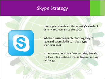 Abstract green city PowerPoint Template - Slide 8