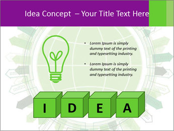 Abstract green city PowerPoint Template - Slide 80