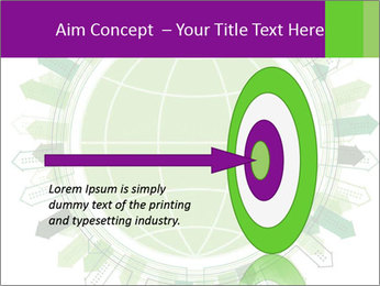 Abstract green city PowerPoint Template - Slide 83