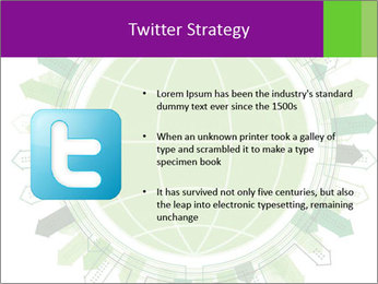 Abstract green city PowerPoint Template - Slide 9